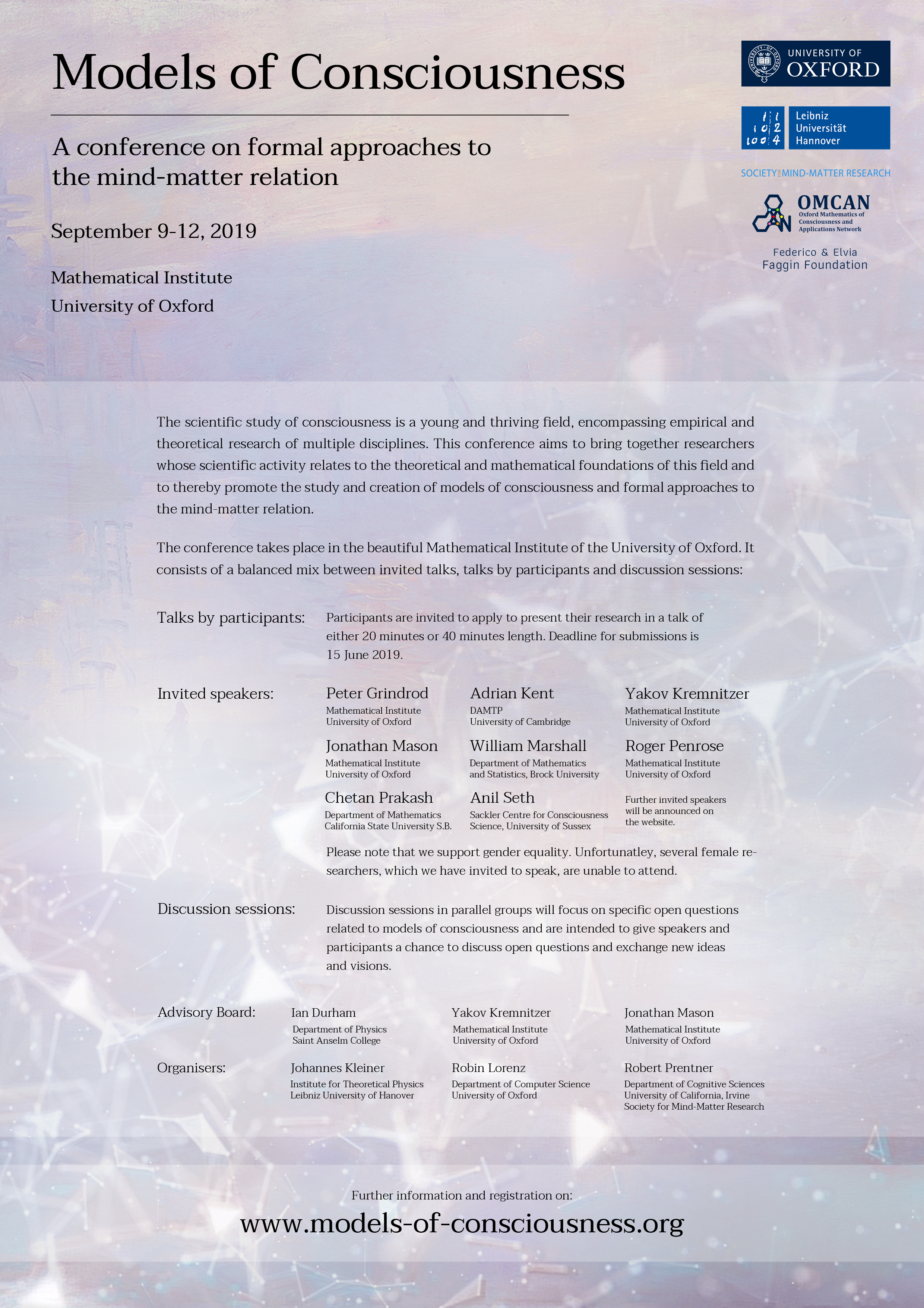 Models of Consciousness Conference (Oxford)
